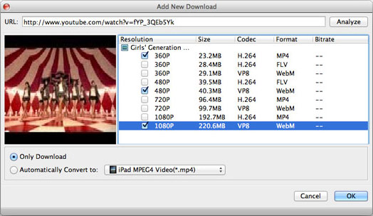 download YouTube videos onto Mac Yosemite