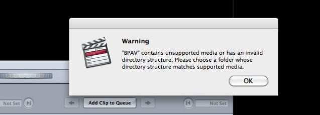 working with Sony XDCAM BPAV folder in Final Cut Pro