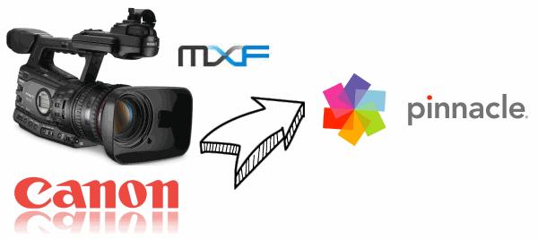 edit Canon XF100/105/300/305 MXF video in Pinnacle Studio