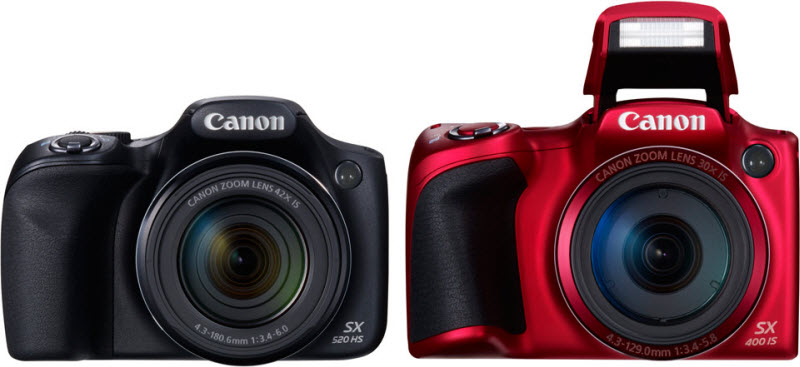 Canon PowerShot SX400 IS and SX520 HS