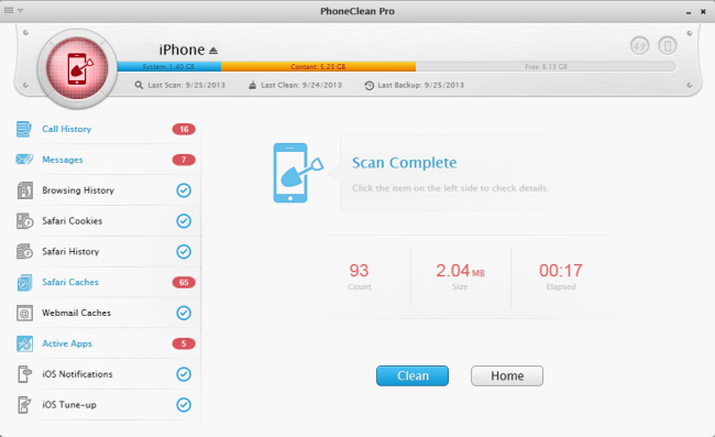 remove junk and get iPhone 6/6 plus running faster