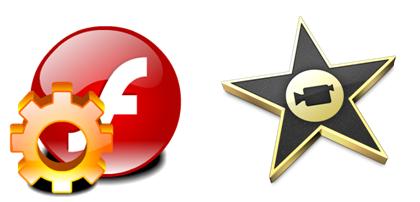 load Flash video (.flv, .f4v, .swf) into iMovie