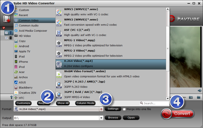 encode VRO content to MP4 video on Windows or Mac