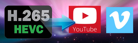 upload hevc to youtube