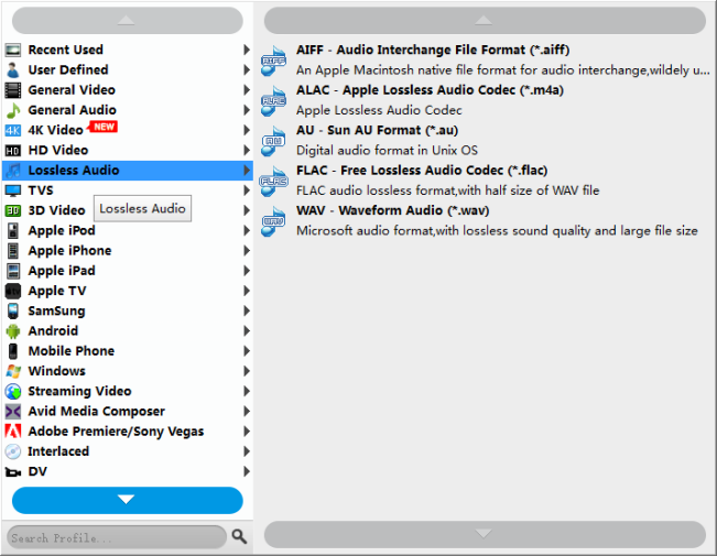 convert AU audio files to other audio formats