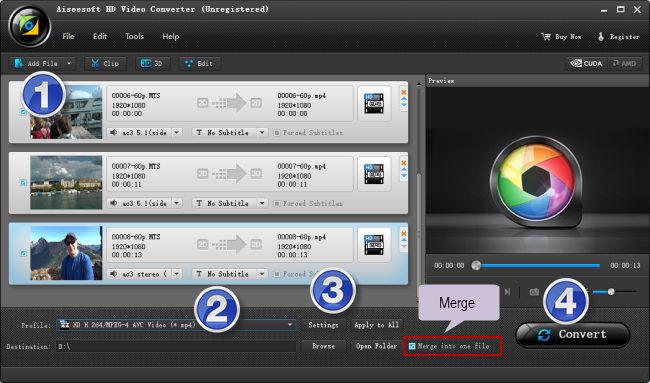 transcode XAVC S video files for GoPro Studio