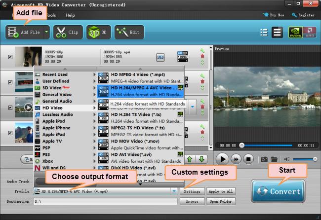 convert non-Xperia Z4 compatible videos to MP4