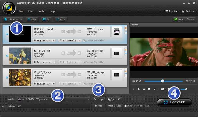 encoding 4K content to DNxHD for Avid MC