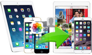 Transfer files from one iDevice to another