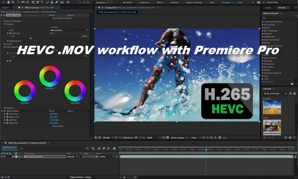 HEVC MOV in Adobe Premiere