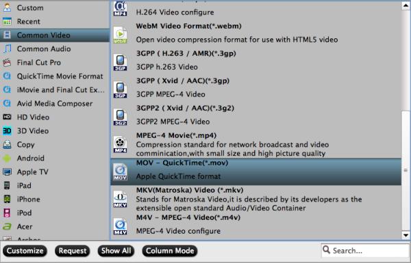 MXF to MOV/MP4/MPEG/MKV/WMV/DV AVI/ProRes conversion