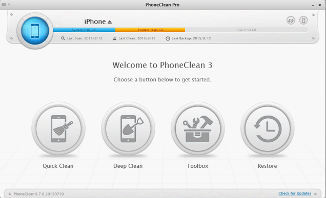 remove all kinds of junk files to speedup iPhone 6/6 plus