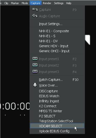 import XDCAM HD and XDCAM EX content to Edius